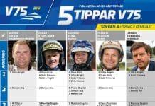 Fem tippar V75 till Solvalla 6 februari 2021