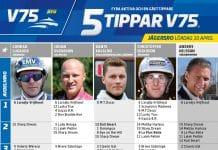 Fem tippar V75 till Jägersro 10 april 2021