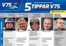 Fem tippar V75 till Åby 8 maj 2021