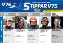 Fem tippar V75 till Umåker 15 maj 2021