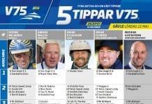Fem tippar V75 till Gävle 22 maj 2021