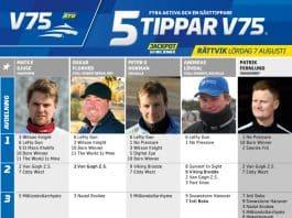 Fem tippar V75 till Rättvik 7 augusti 2021