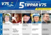 Fem tippar V75 till ÅBY 14 augusti 2021