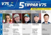 Fem tippar V75 till Bollnäs 11 september 2021