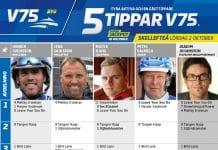 Fem tippar V75 till Skellefteå 2 oktober 2021